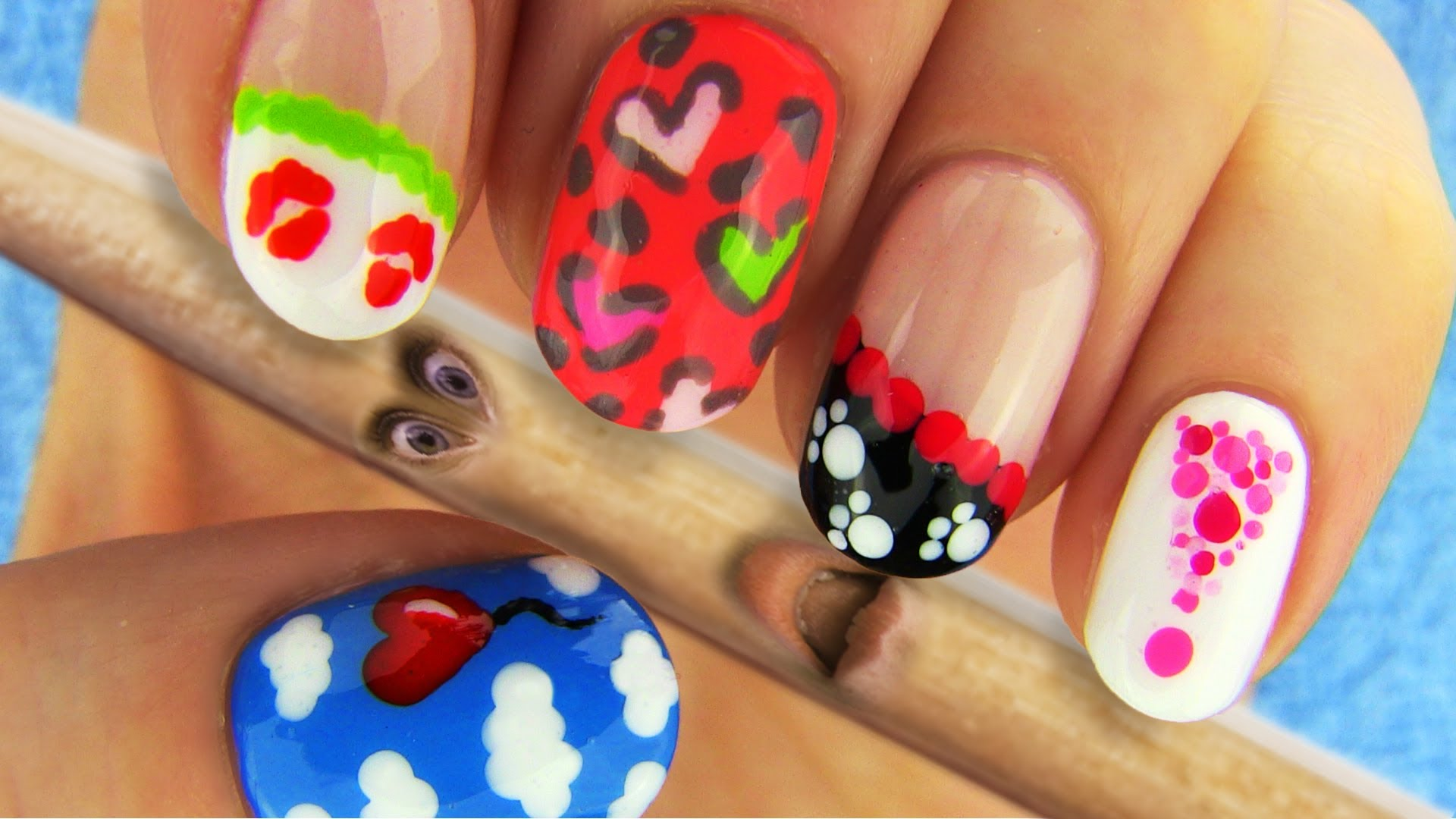 6 Nail Art Designs Nail Tutorial Using Toothpick As A Dotting Tool All Beauty Videos